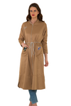 Cotton  Jilbab Overcoat with Patches