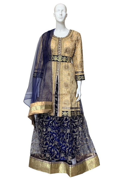 Lengha with 3/4 Sleeve Jacket