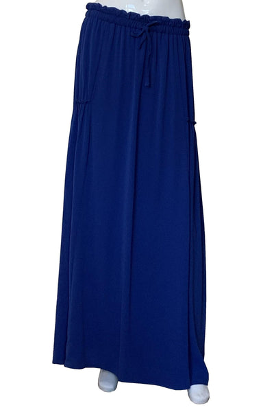 Maxi Skirt with Side Gathering