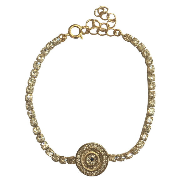 Adjustable Gold Plated Round Bracelet