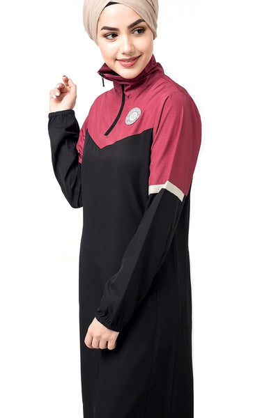 High Zip Neck Jilbab