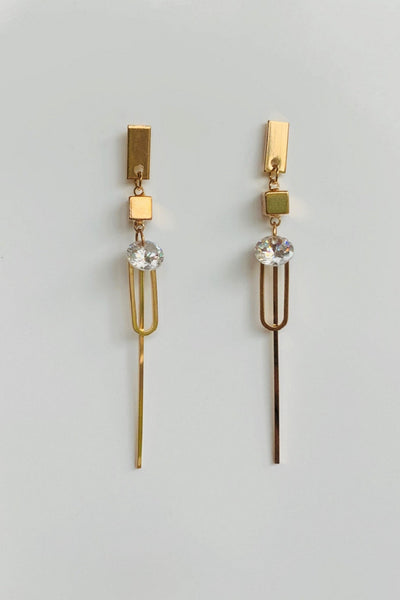 Edgy Me Gold plated Earrings