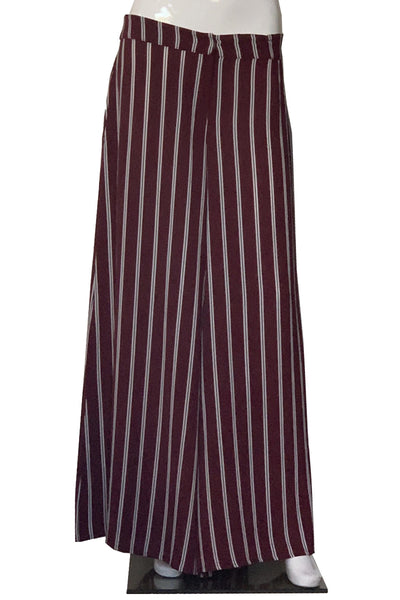 Striped Crepe Pants