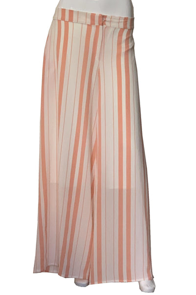 Peach & Cream Wide Leg Pants