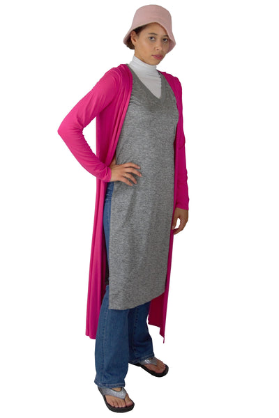 Maxi Pink Cardigan Duster