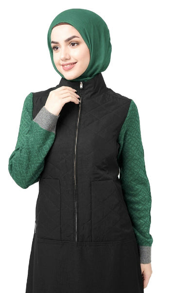 Knitted Front Zip Sweater Jilbab