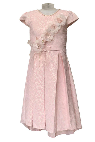 Glitter Asymmetric Eid Dress - Pink