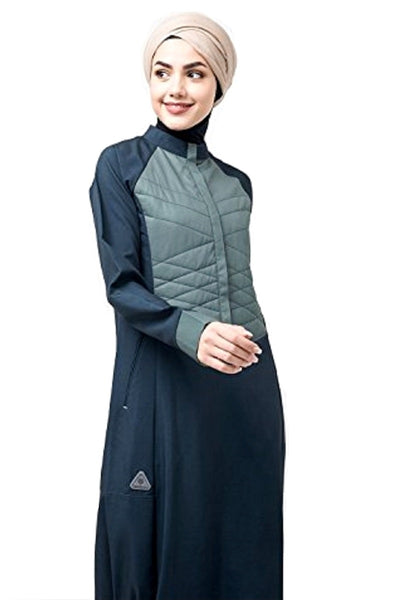 Button Front Quilted blue Jilbab