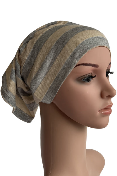 Striped Glitter Tube Bonnet