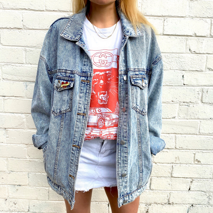 80'S DENIM VINTAGE JACKET