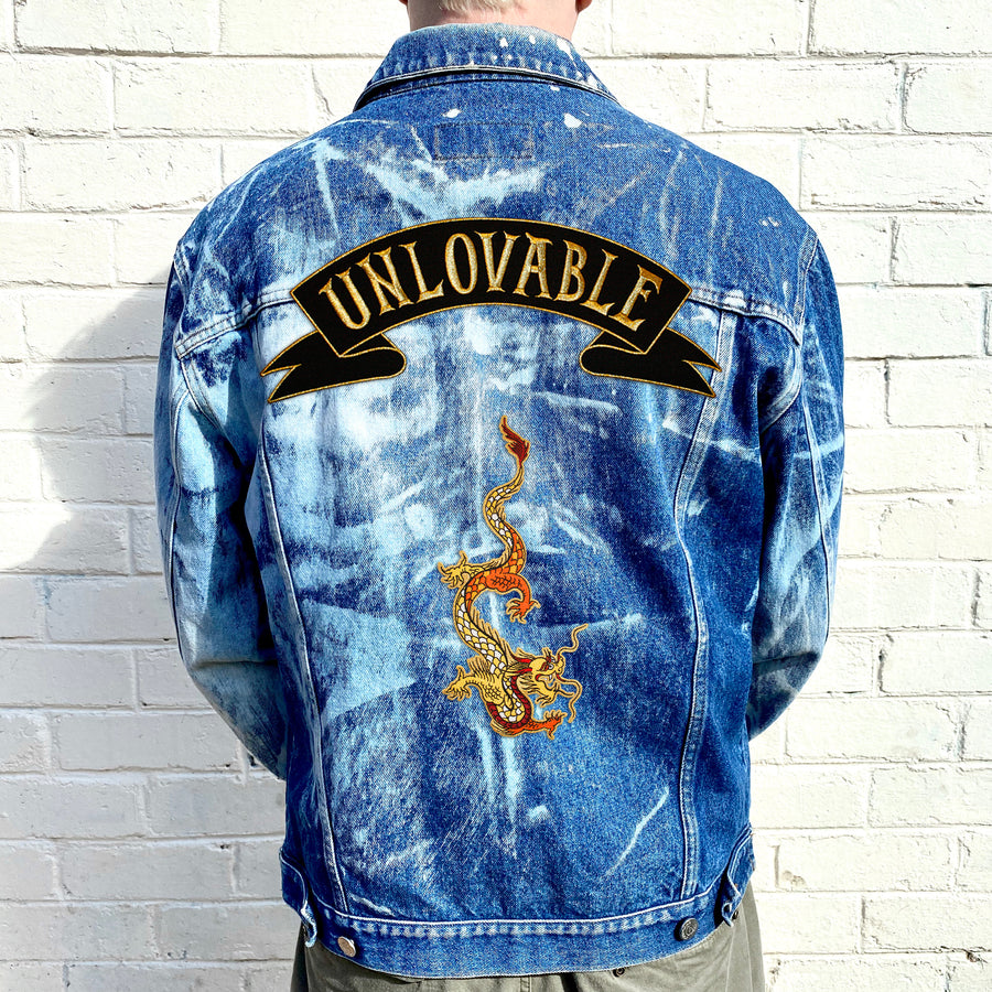 ITALIAN BLEACHED DENIM JACKET