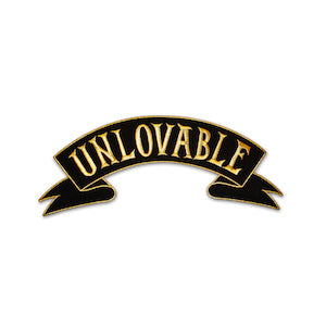 Black & Gold Unlovable Back Patch