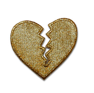 Gold Broken Heart Patch