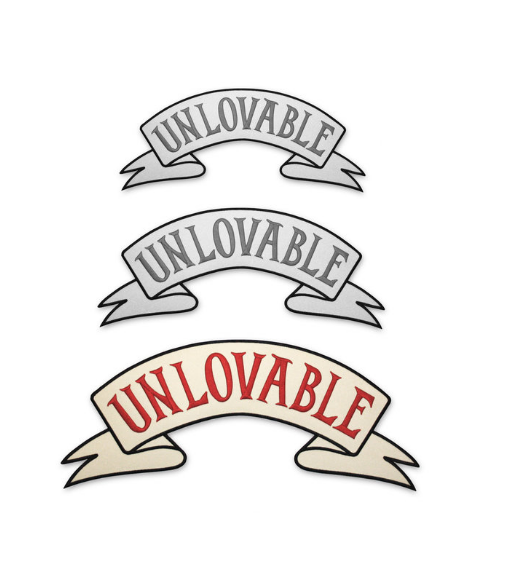 Large Unlovable Back Patch