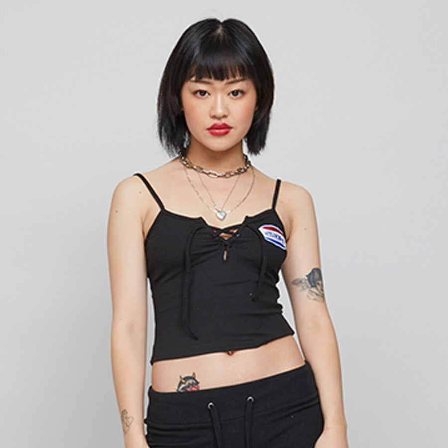 Black Sexsi Singlet Crop