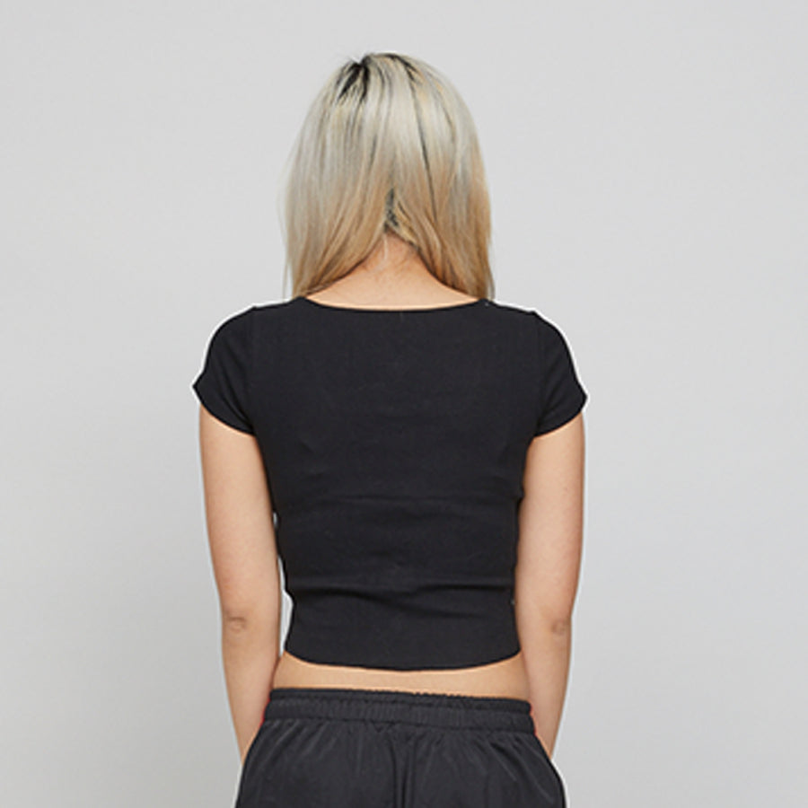 Black Sexsi Crop Top
