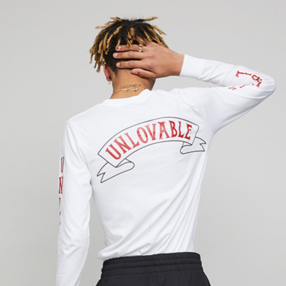 Unlovable Long Sleeve WHITE