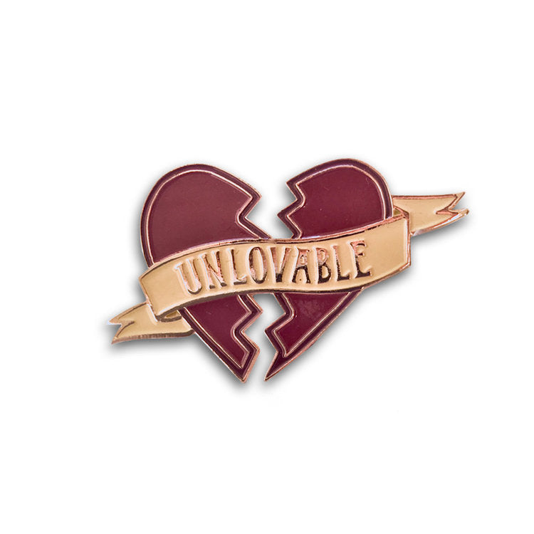 GOLD UNLOVABLE PIN