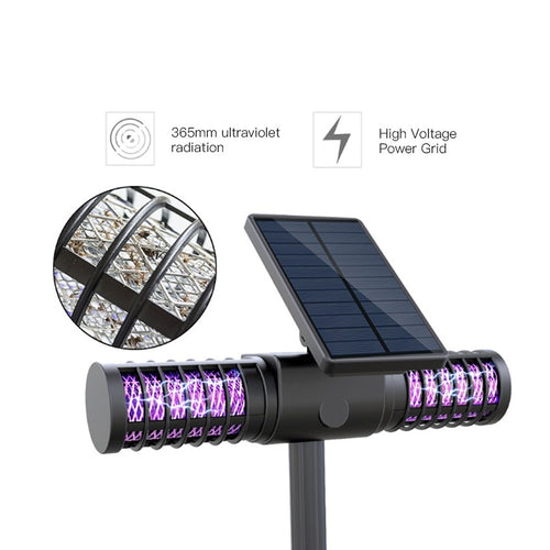 Solar Powered Mosquito Killer Lamp for Outdoors feat. Waterproof  LED Light