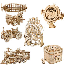Load image into Gallery viewer, Robotime 3D Wooden Puzzle with Mechanical Gears Building Kit