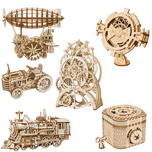 Robotime 3D Wooden Puzzle with Mechanical Gears Building Kit