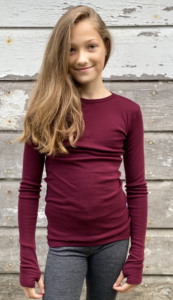 THERMAL UNDERLAYER (TOP) CHILDREN UP TO AGE 12 Simply Merino Clothing Co