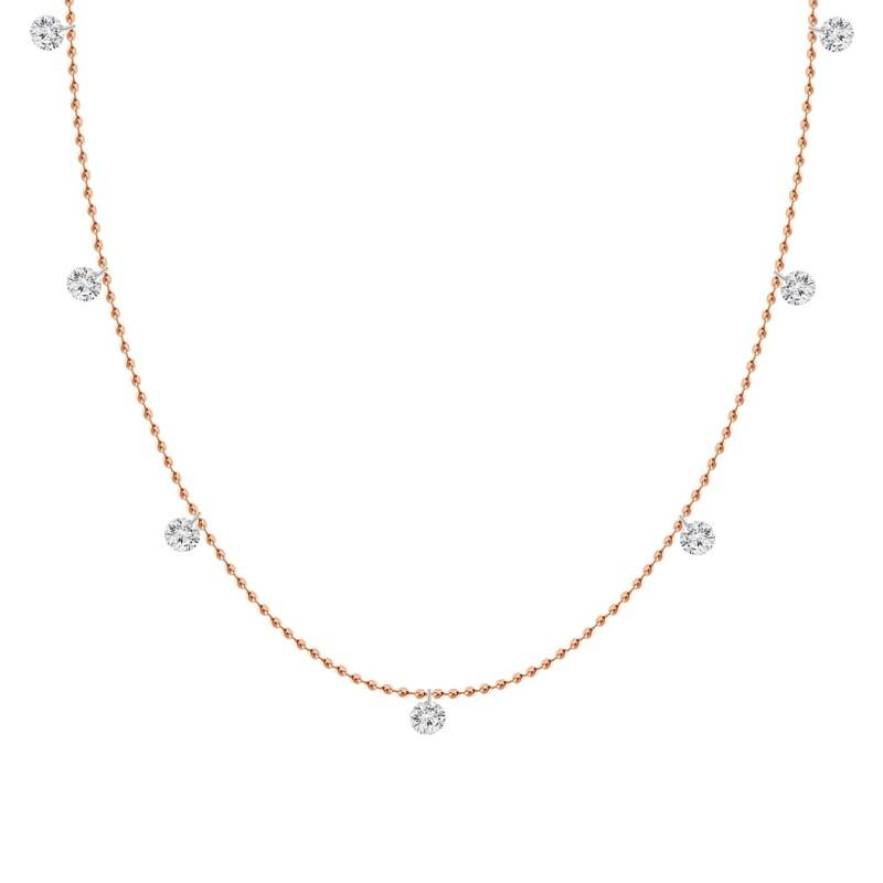 Diamond Station Necklace 7 stone