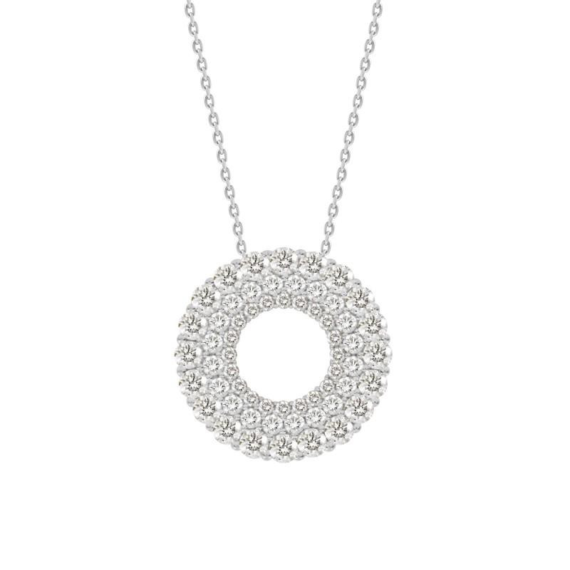 Hollow Round Diamond Necklace