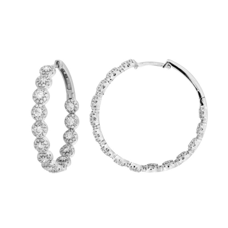 Inside and Out Diamond Hoop Earrings