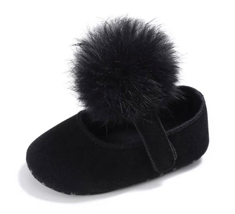 London Booties with Fur Poms