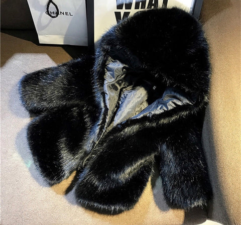 ASPEN Faux Fur Hooded Coat