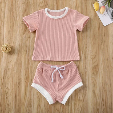Compton 2 Piece Set in Pink