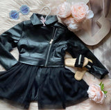 Amsterdam Faux Leather Tutu Jacket
