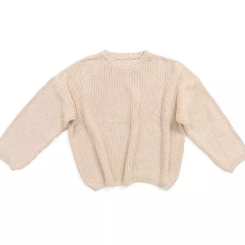 Vail Knit Sweater in Latte
