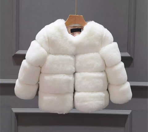 Dubai Faux Fur Coat in White