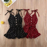 Seville Polka Dot Romper In Black