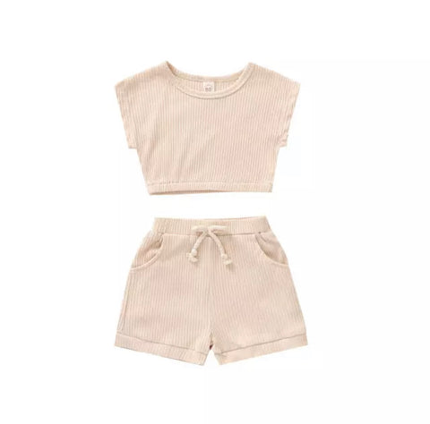 Compton 2 Piece Set in Latte