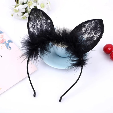 Kitty Ears w/Feathers