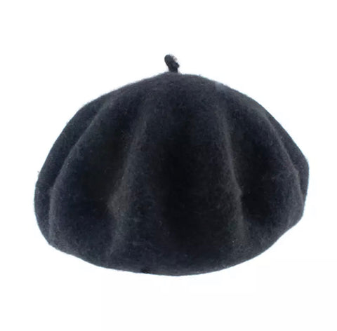 Lyon French Beret In Noir