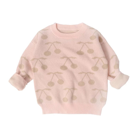 Greenwich Cherry Pullover Knit in Pink