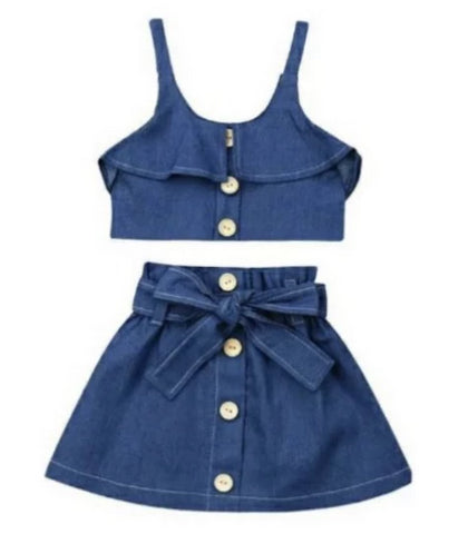 Geneva 2 Piece Denim Set