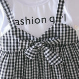 Raleigh Gingham T Shirt Dress