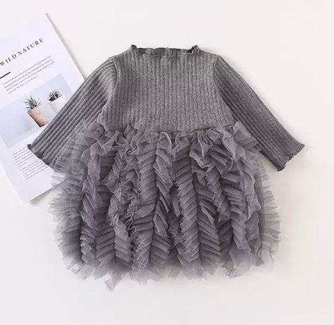 Oslo Knit Dress with Lace Trim