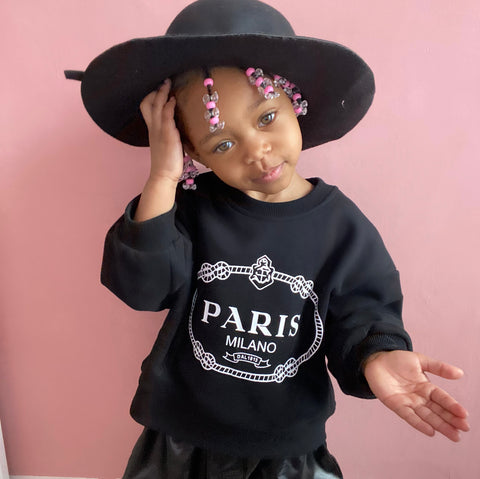 Paris Sweatshirt in Noir