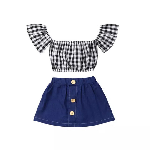 Cali Gingham 2 Piece Set