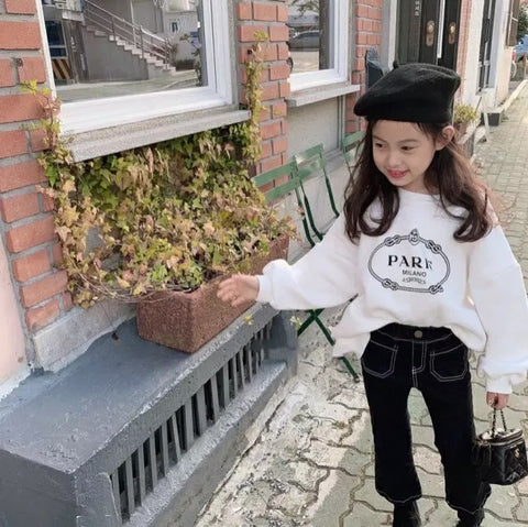 Paris Sweatshirt in White