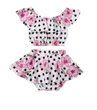 Kyoto Polka Dot Floral 2 Piece Set