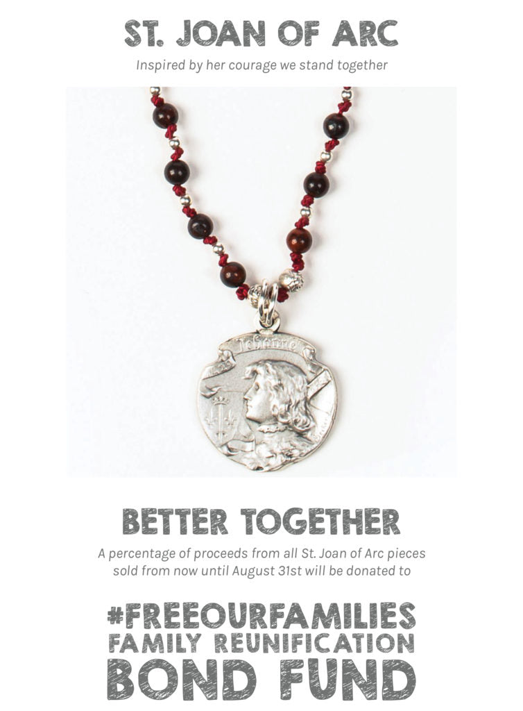 St Joan of Arc Courage necklace - mysaintmyhero.com