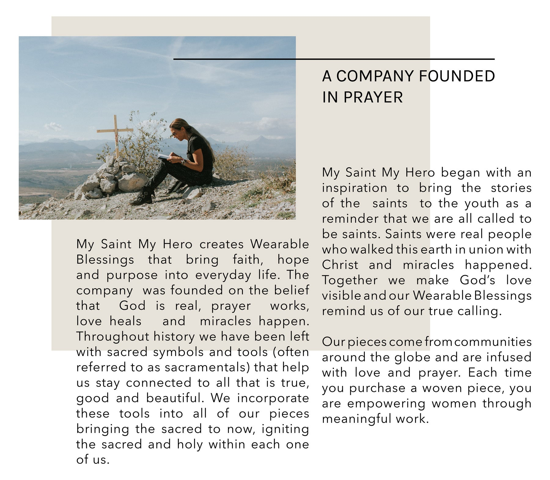My Saint My Hero Founder Amy Dambra in prayer