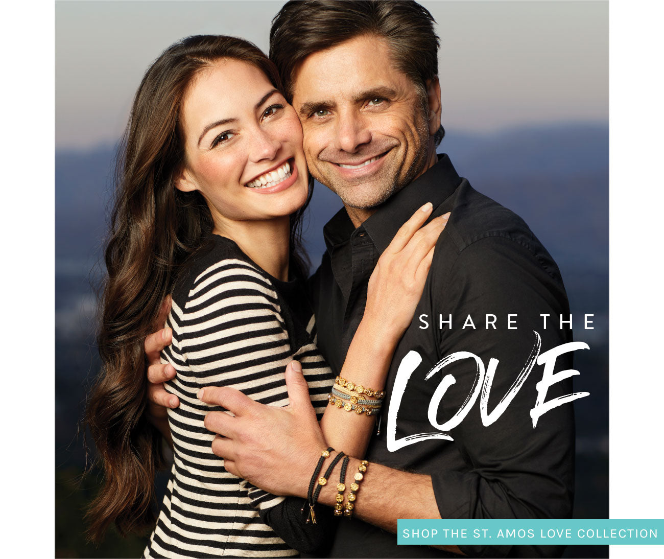 SHARE THE LOVE - Shop the St. Amos Collection photo of Caitlin and John Stamos in Share the Love St. Amos Bracelets